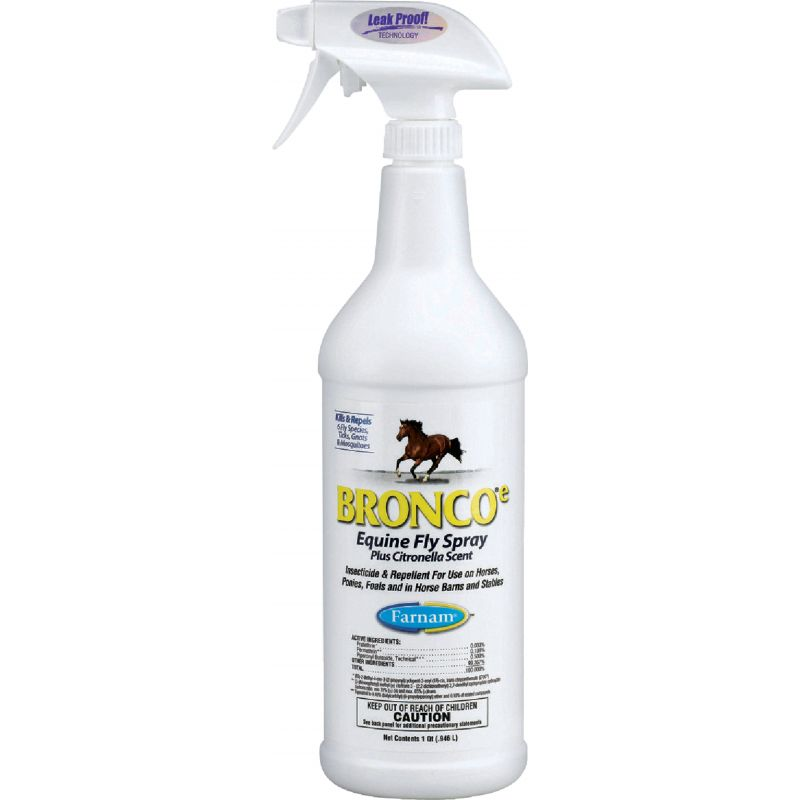 Farnam Bronco-e Equine Fly Spray 32 Oz., Trigger Spray