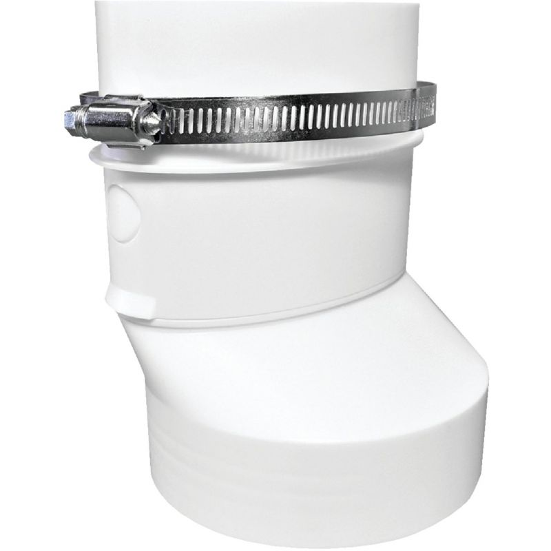 Dundas Jafine Round to Oval Duct Connector 6.9 X 5.85 X 5.15 In., White
