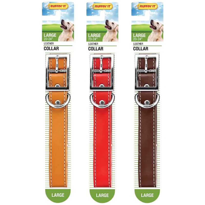 Westminster Pet Ruffin' it Leather Dog Collar Brown/Red/Tan