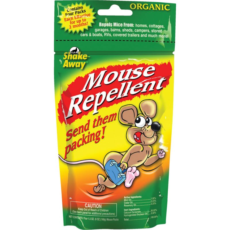 Shake Away Organic Mouse Repellent (4) 1.5 Oz. Pouches, Pouch