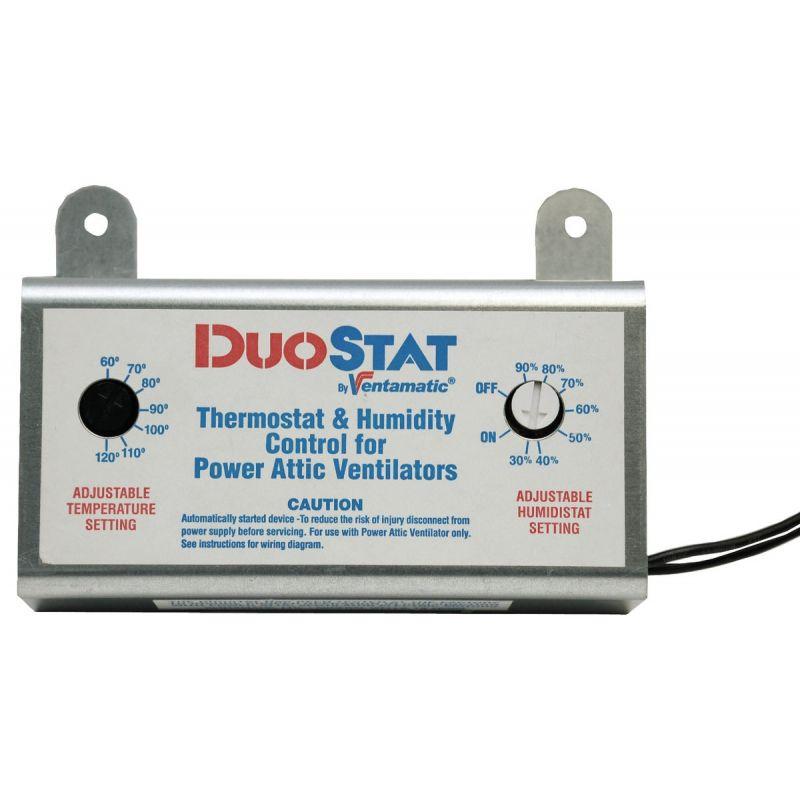 Ventamatic Power Attic Vent Thermostat and Humidistat 10A