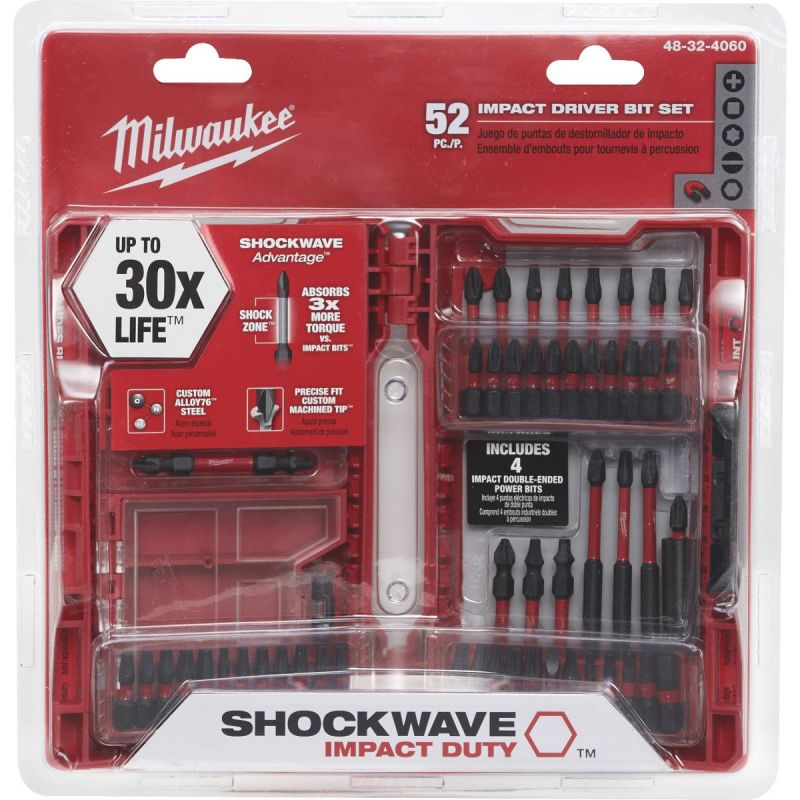 Milwaukee Shockwave 52-Piece Impact Screwdriver Bit Set