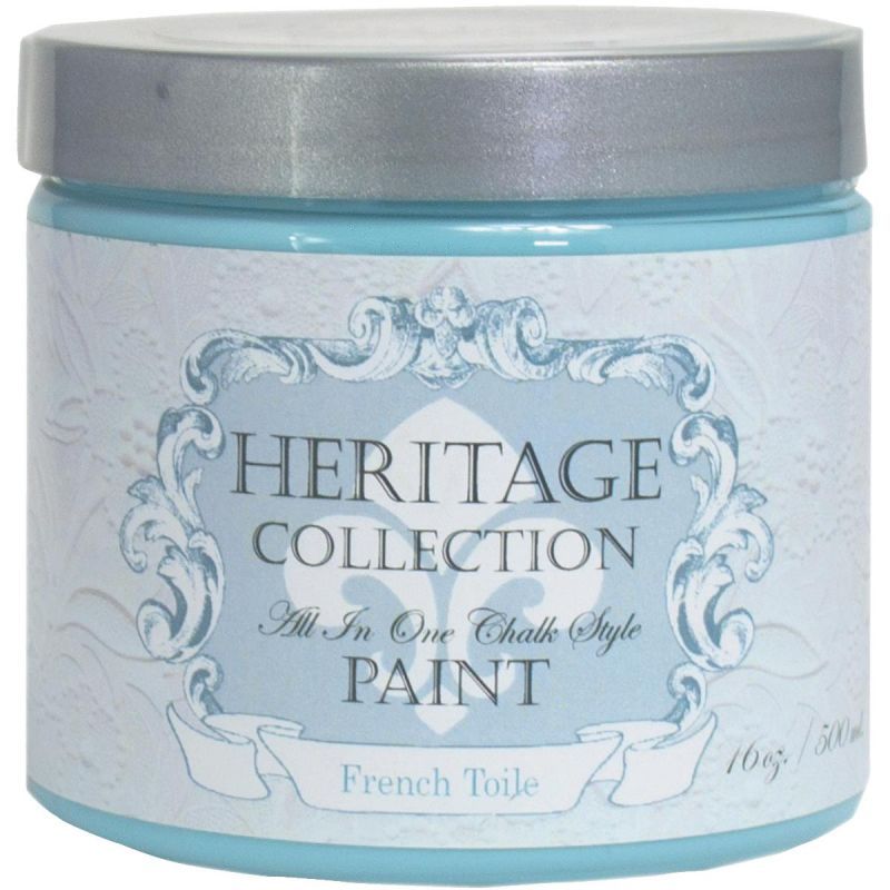 Collection All-In-One Chalk Style Paint French Toile - Blue Pint
