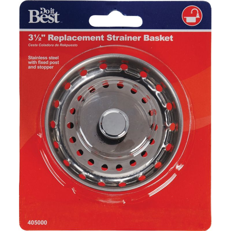 Do it Stainless Steel Basket Strainer Stopper With Post 3-1/2 In.