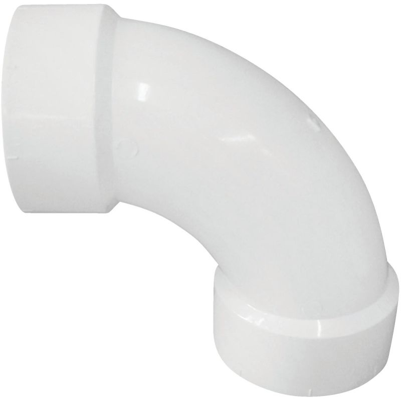 Charlotte Pipe 90 Deg. Long Sweep PVC Elbow 3In. Hub X Hub