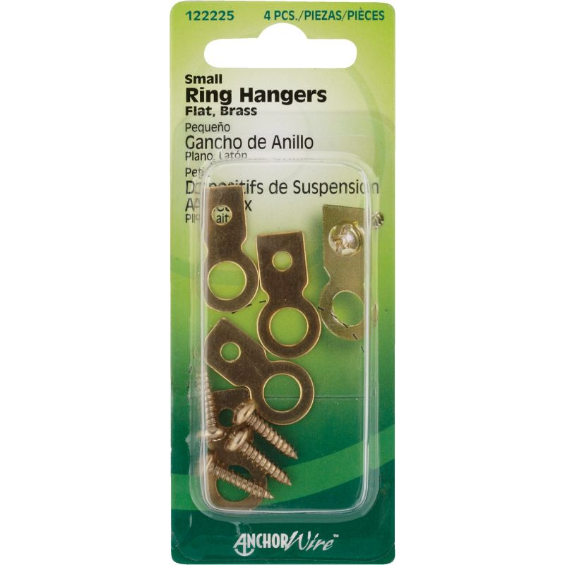 Hillman Anchor Wire Small Flat Ring Hangers (Pack of 10)