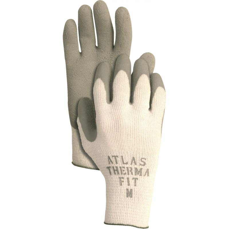 Atlas Therma-Fit Latex-Dipped Knit Winter Glove S, White & Green