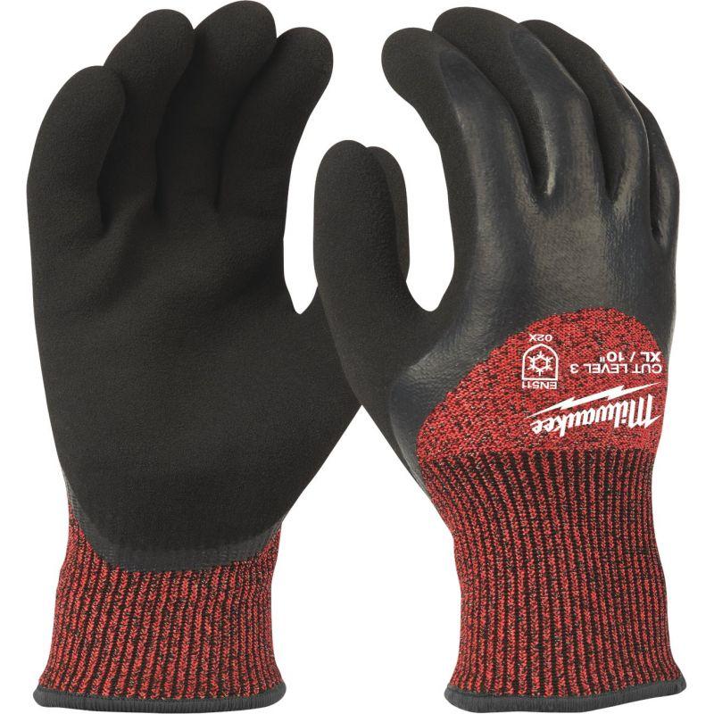 Milwaukee Latex Coated Cut Level 3 Insulated Glove XL, Red/Black