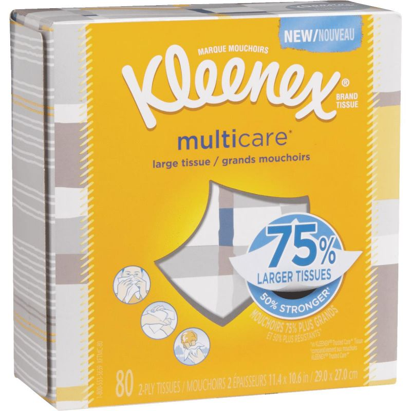 Kleenex Multicare Facial Tissue 80 Ct., White