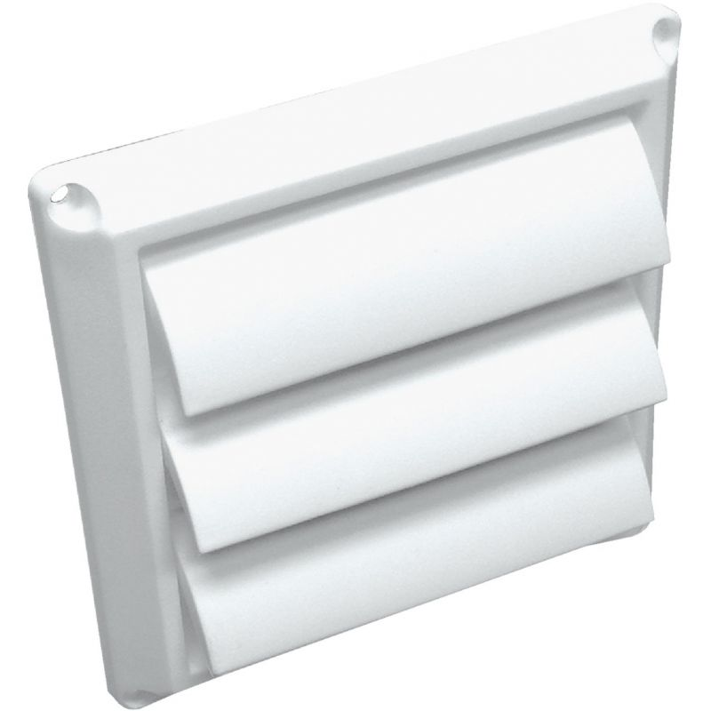 Lambro Louvered Dryer Vent Hood 4 In., White