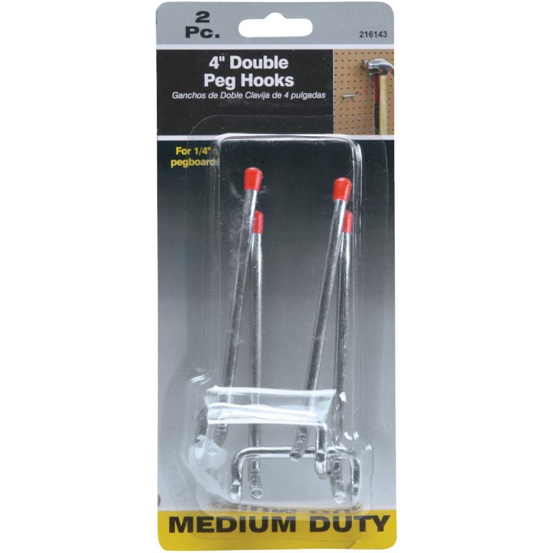 Double Arm Safety Tip Straight Pegboard Hook