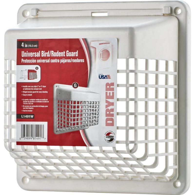 Lambo Universal Vent Guard 4 In., White