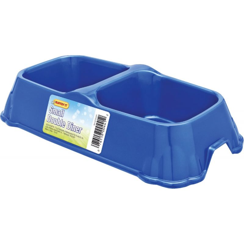 Westminster Pet Ruffin' it Double Pet Food Bowl 10 Oz., Assorted