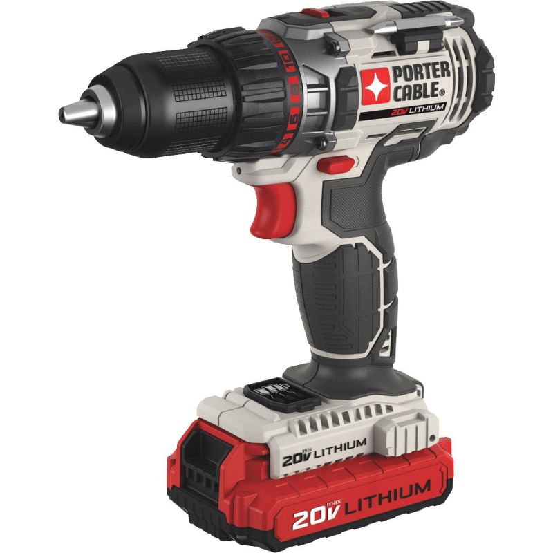 Porter Cable 20V MAX Lithium-Ion Cordless Drill Kit w/2 Batteries
