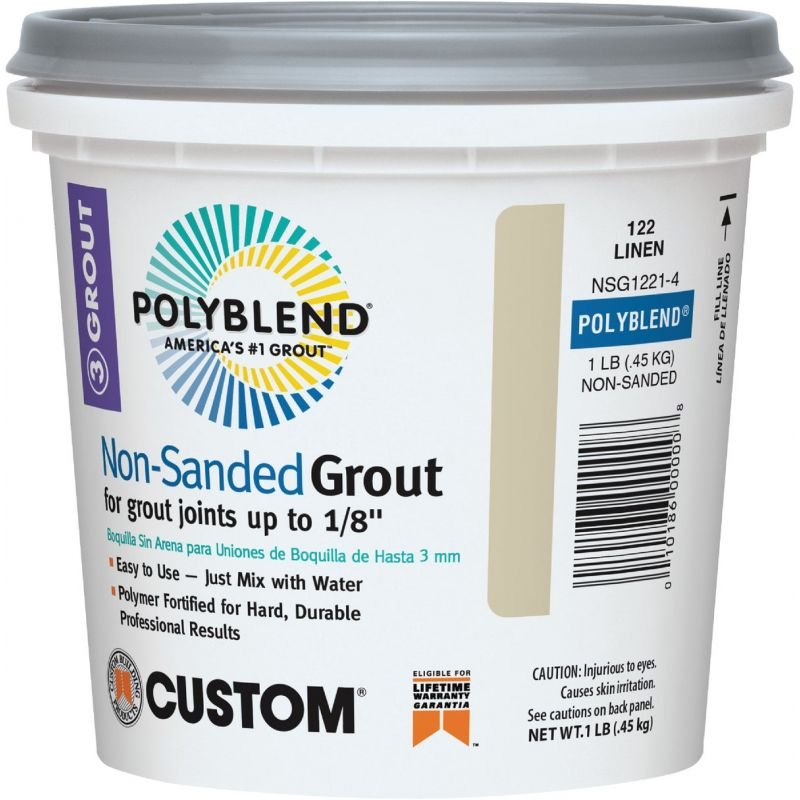 Custom Building Products Polyblend Non-Sanded Tile Grout 1 Lb., Linen