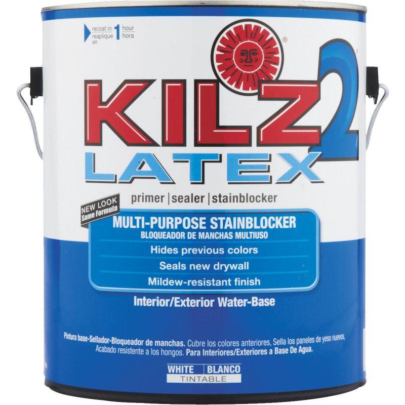 KILZ 2 Latex Interior/Exterior Sealer Stain Blocking Primer 1 Gal., White