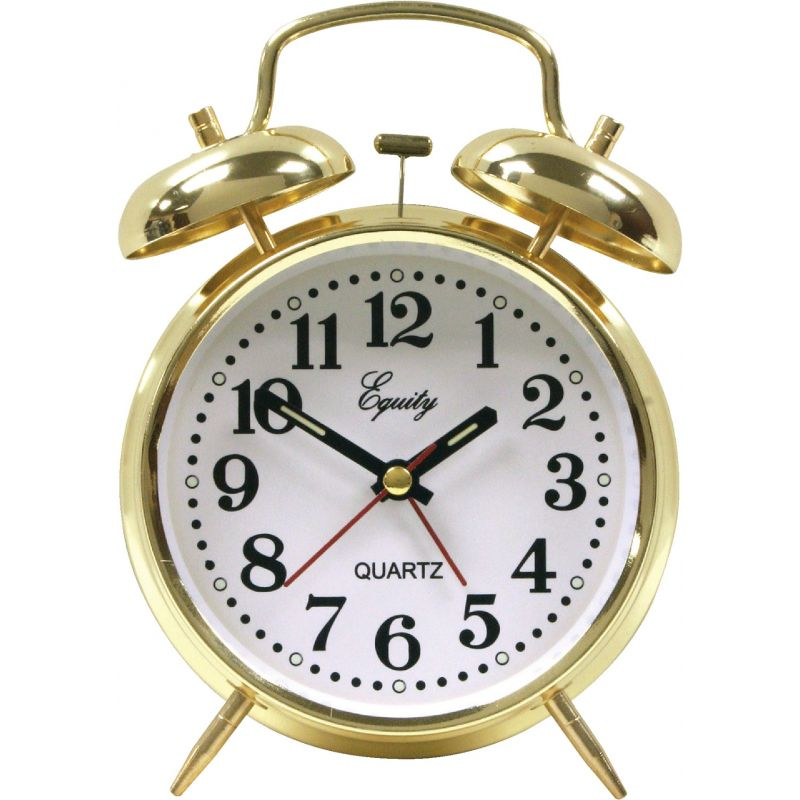 La Crosse Technology Equity Keywound Twin Bell Alarm Clock