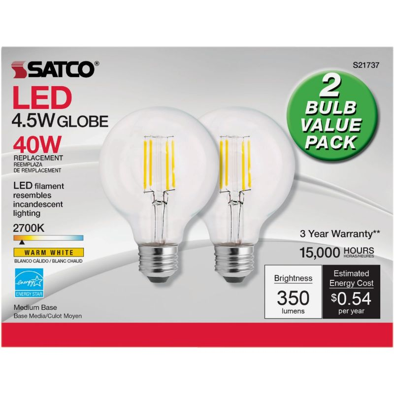 Satco Nuvo G25 Medium LED Decorative Light Bulb