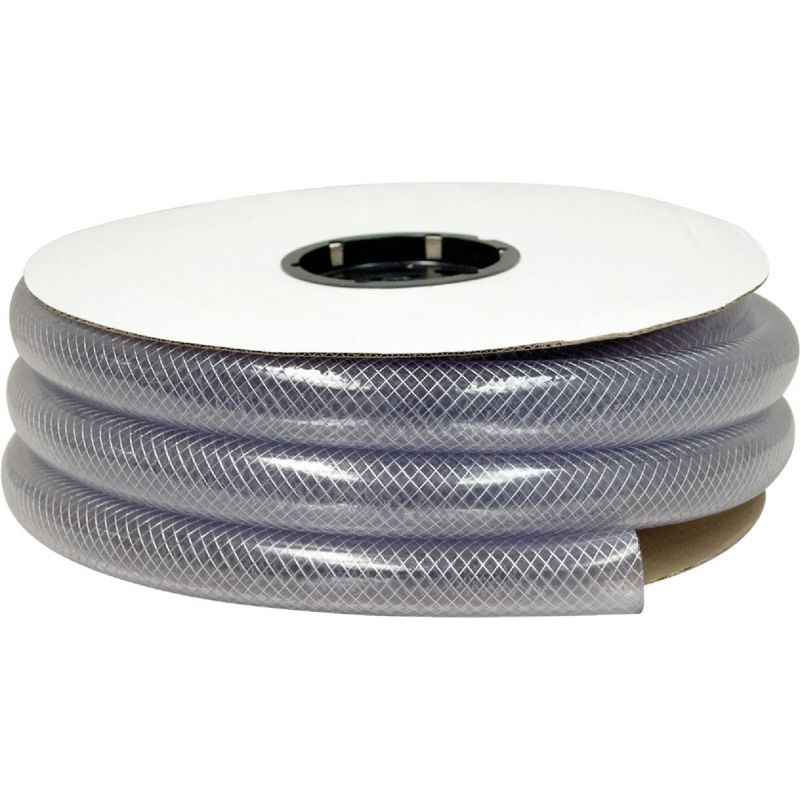Abbott Rubber Bulk Spool T12 Clear Braided PVC Tubing Clear