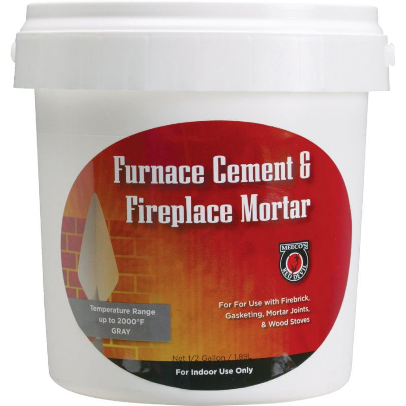 Meeco's Red Devil Furnace Cement & Fireplace Mortar Gray, 1/2 Gal.