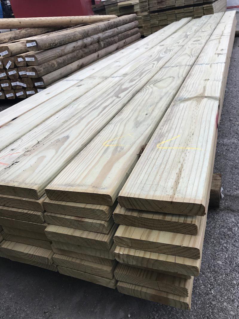 "5/4"" x 6"" x 16' MCA Standard Pressure Treated Lumber Decking Board"