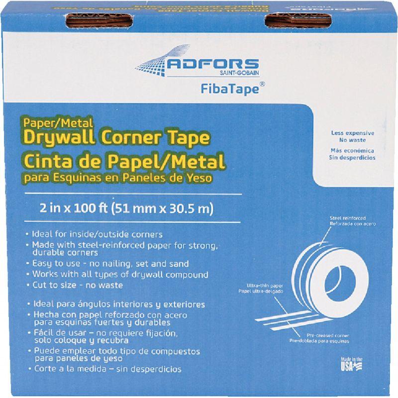 FibaTape Steel Reinforced Corner Drywall Tape White