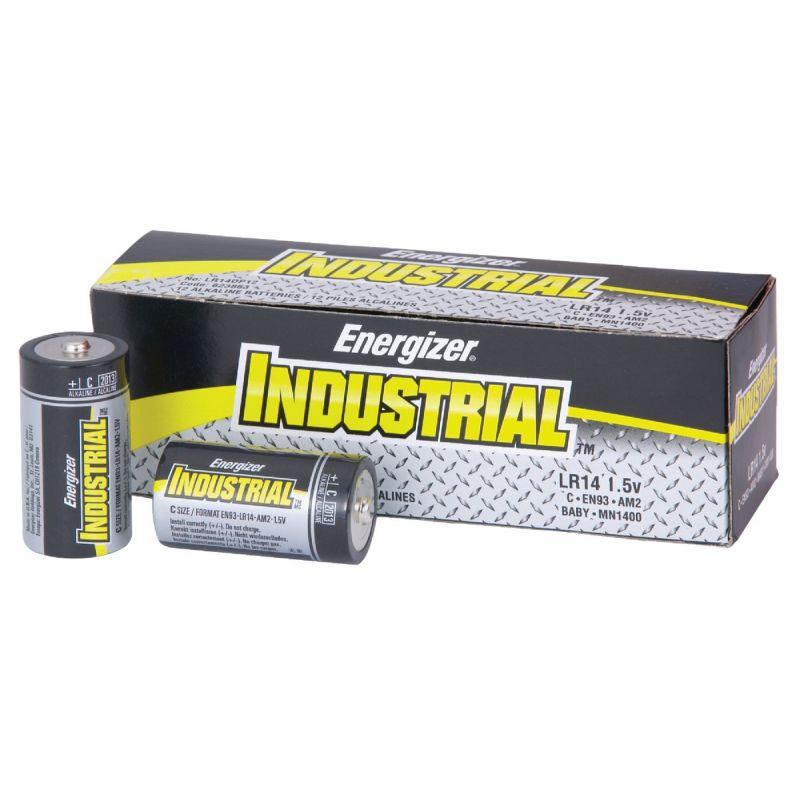 Energizer Industrial C Alkaline Battery 8350 MAh (Pack of 12)