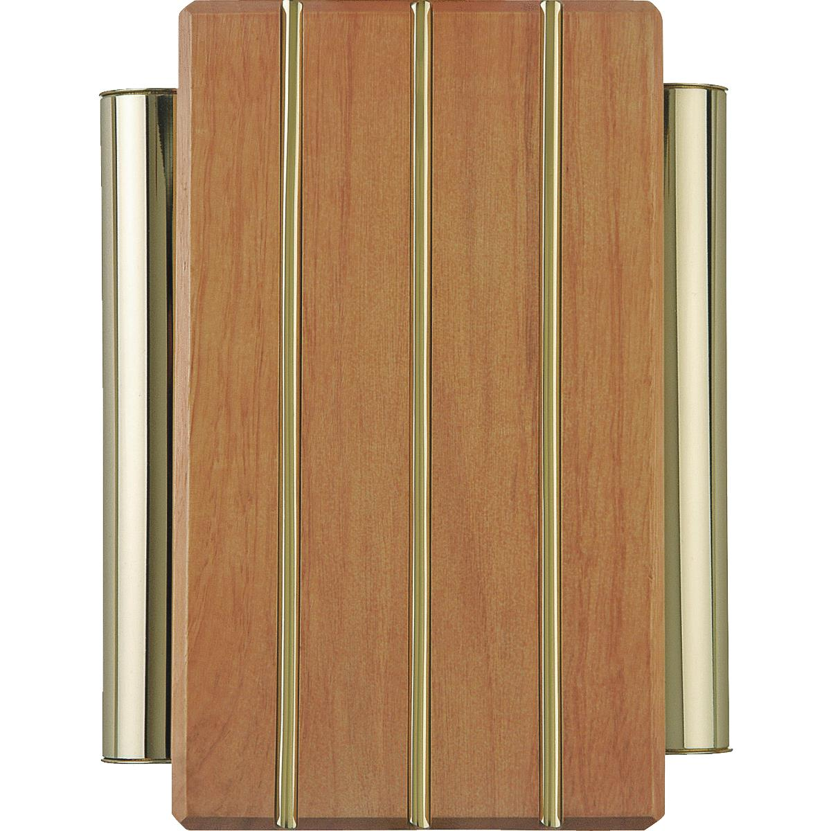 Carlon Brass Finished Wood Wired Door Chime