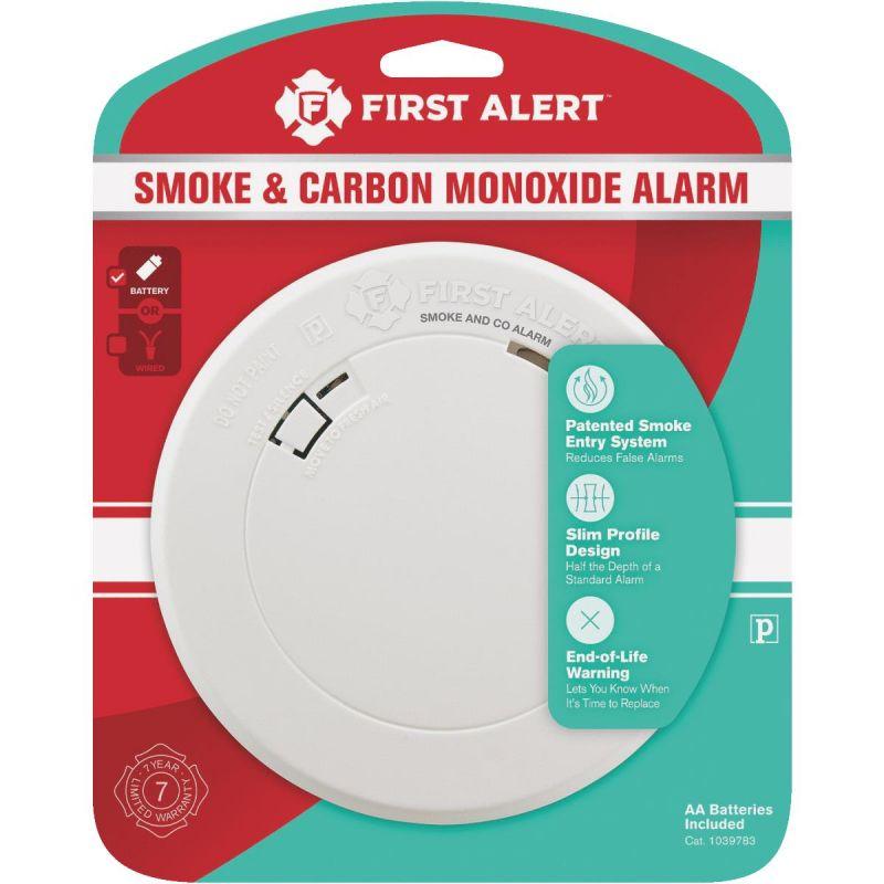 First Alert Slim Round Photoelectric Carbon Monoxide/Smoke Alarm White