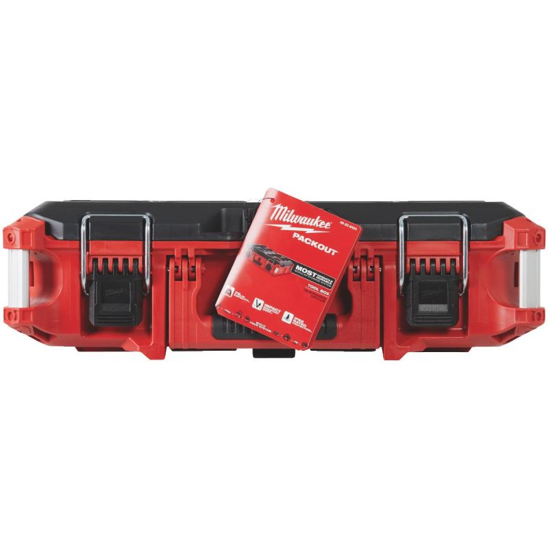 Milwaukee PACKOUT Toolbox 75 Lb., Red/Black