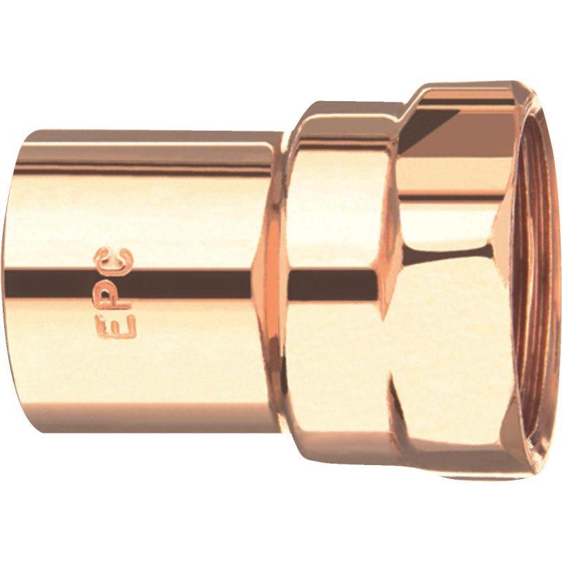 Elkhart Female Reducing Copper Adapter 1/2 In. X 3/8 In.