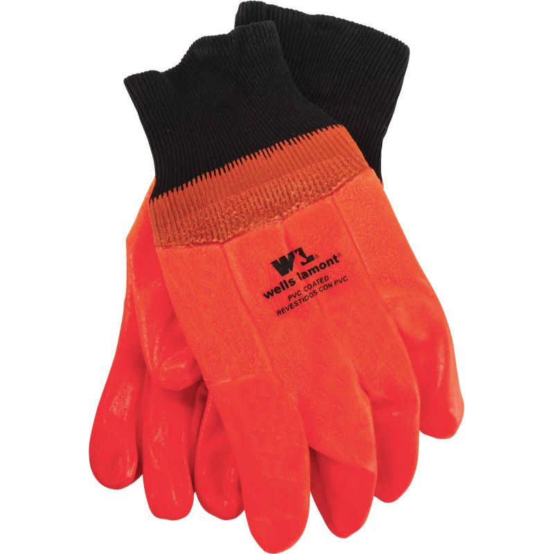 Wells Lamont PVC Coated Chemical Resistant Winter Glove 1 Size Fits All, Orange