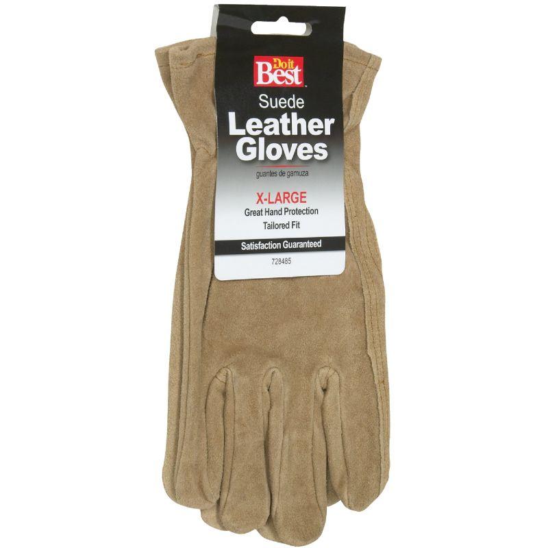 Do it Best Suede Leather Work Glove XL, Tan