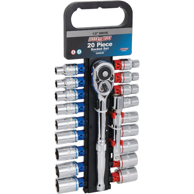 Channellock 20-Piece 1/2 In. Drive Socket Set