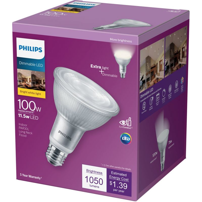 Philips PAR30L Glass LED Floodlight Light Bulb