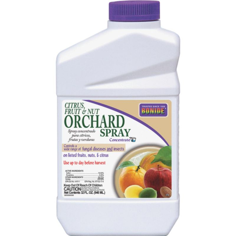 Bonide Orchard Spray Fruit Tree Insect & Disease Killer 32 Oz., Sprayer