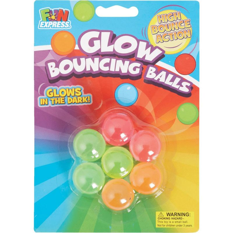 Fun Express Glow Bouncing Ball 1 In. Ea. (Pack of 12)