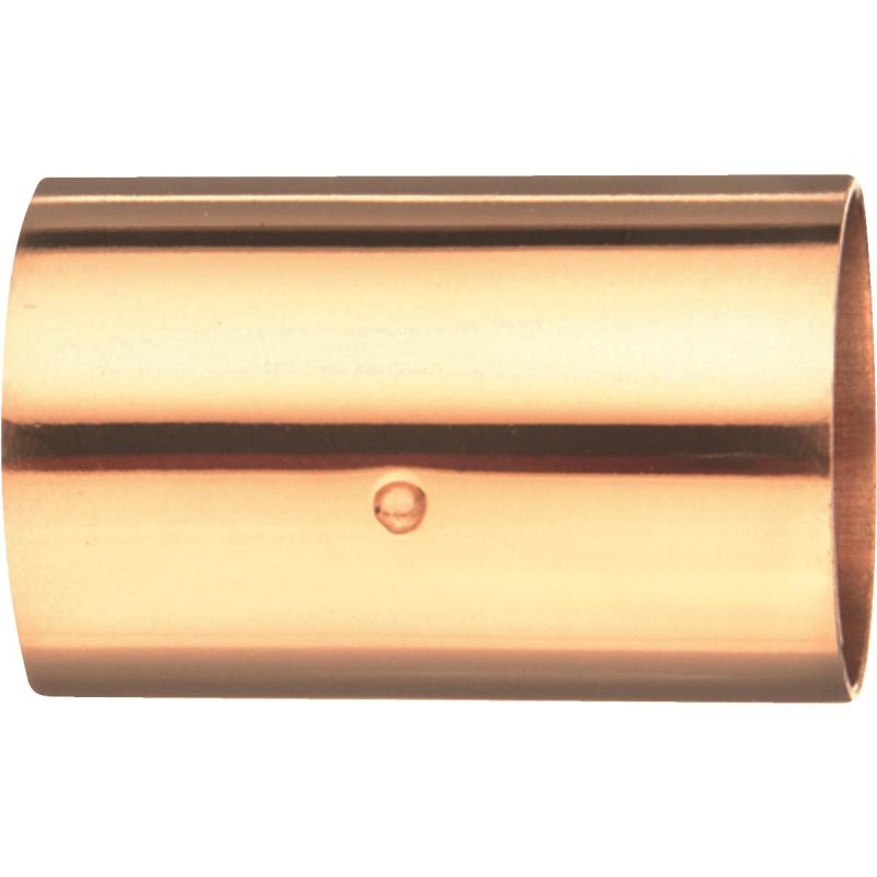 Elkhart Copper Coupling with Stop 1 In. X 1 In.