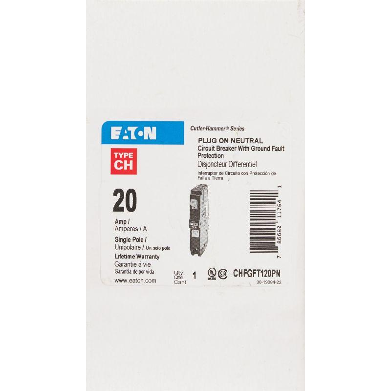Eaton CH Plug On Neutral GFCI Breaker 20A