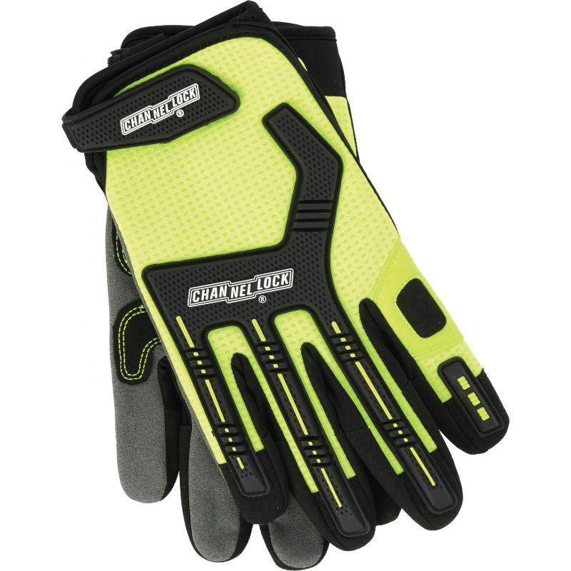 Channellock Heavy-Duty Mechanics Glove M, Hi-Visibility Yellow