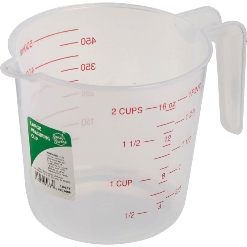 Smart Savers Measuring Cup 2 Cup, White (Pack of 12)