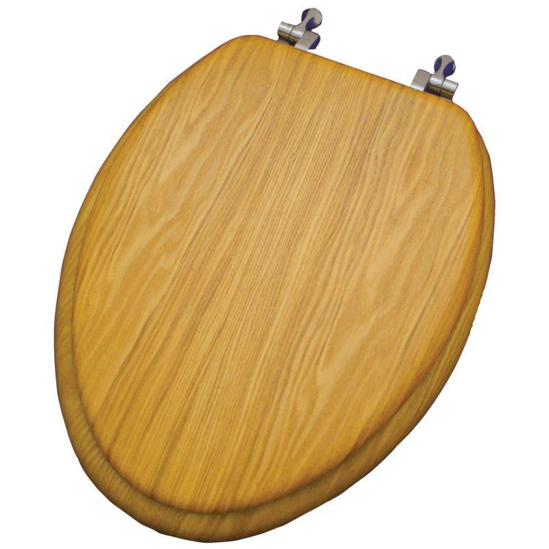 Home Impressions Oak Veneer Toilet Seat Oak, Elongated