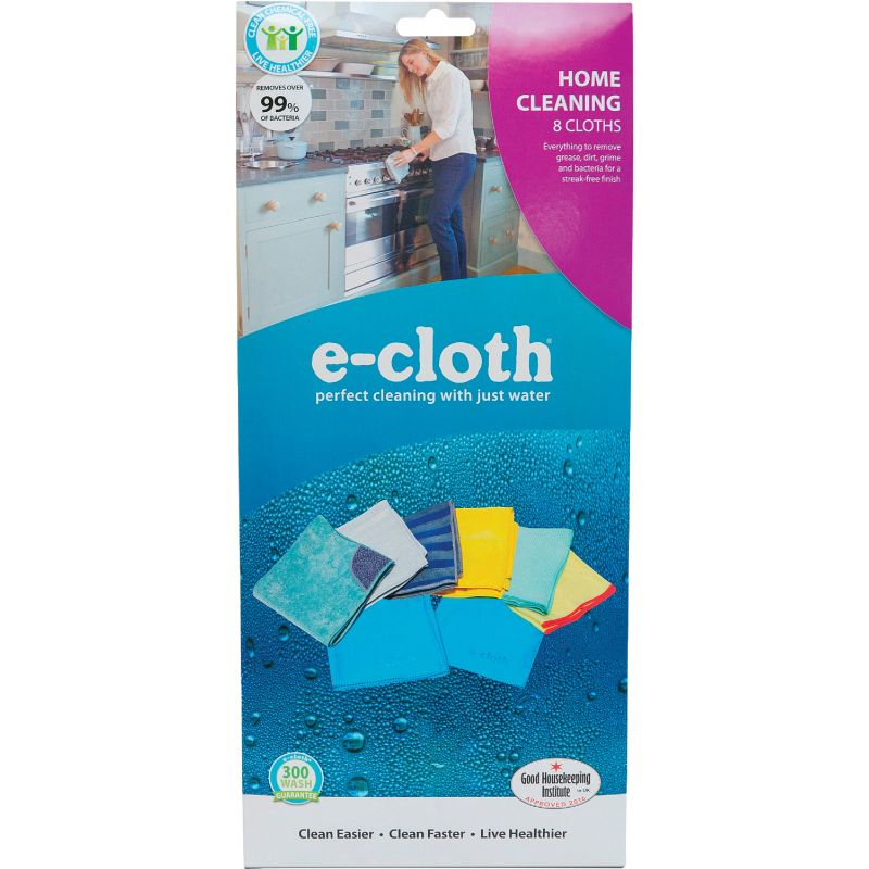 E-Cloth Home Cleaning Cloth Pack Assorted