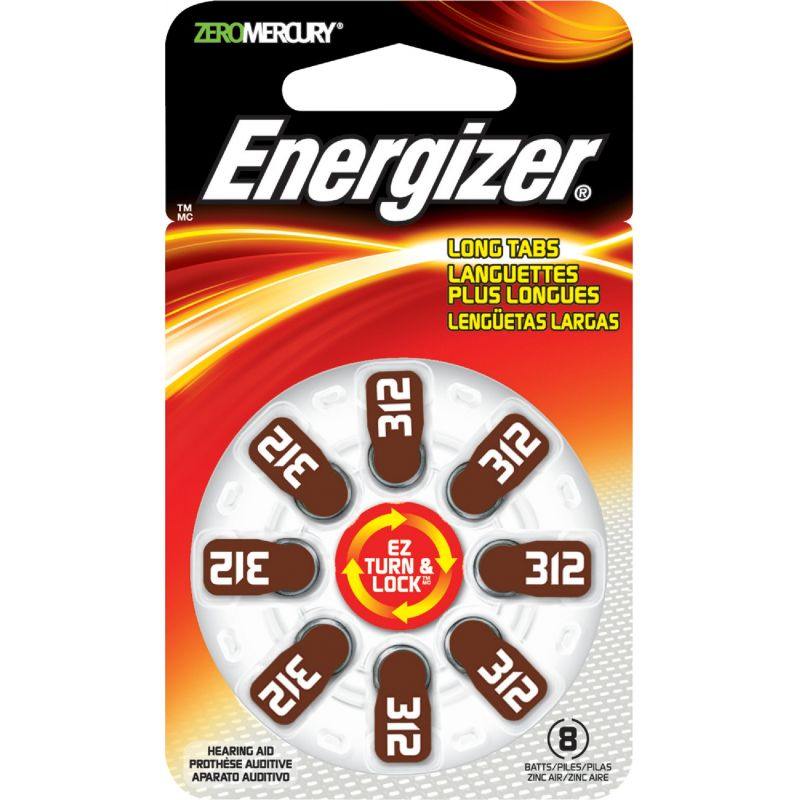 Energizer EZ Turn & Lock Hearing Aid Battery Brown
