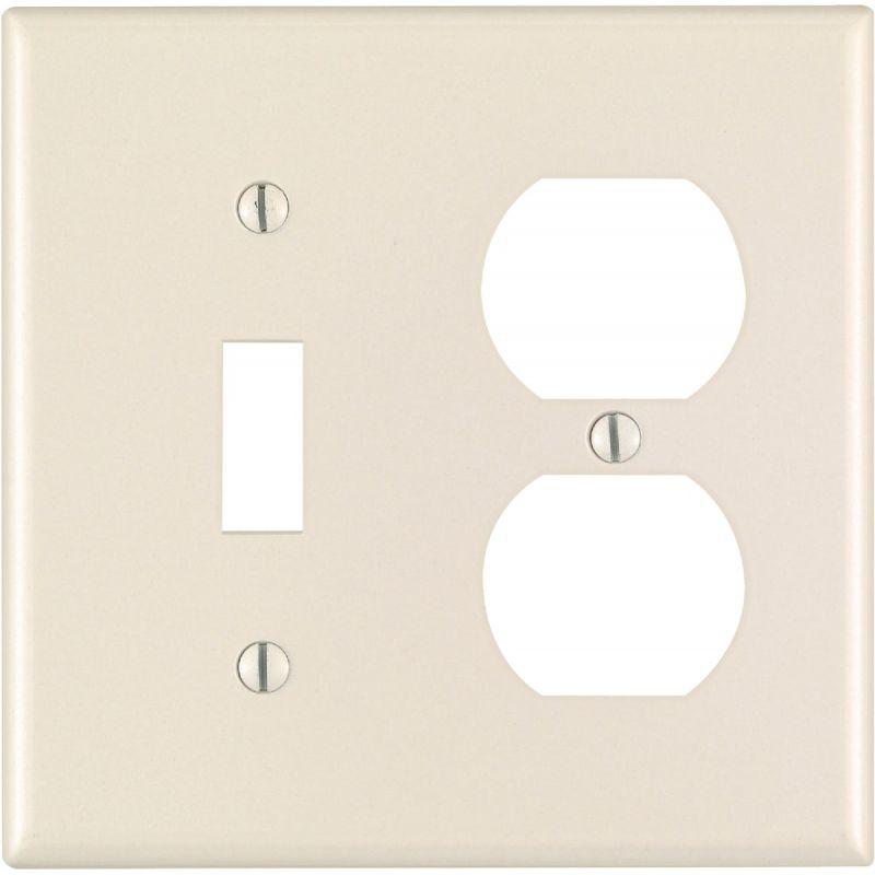 Leviton Plastic Combination Wall Plate Light Almond