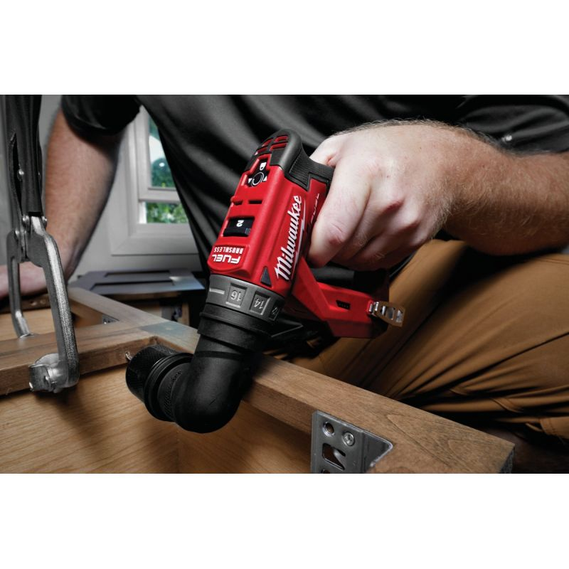 Milwaukee M12 FUEL Lithium-Ion Brushless Cordless Drill/Driver Kit w/Attachments