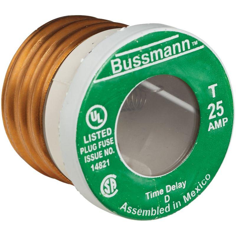 Bussmann Fusetron T Plug Fuse 10,000 AIC, 25A