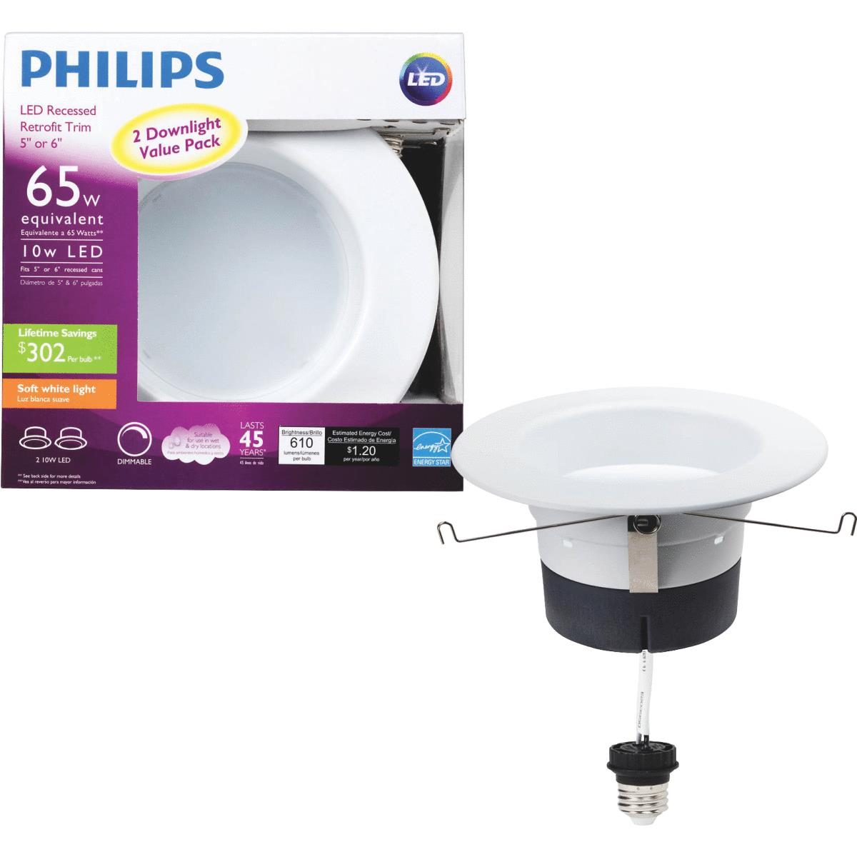 Buy Philips Retrofit 10w Led Recessed Light Kit