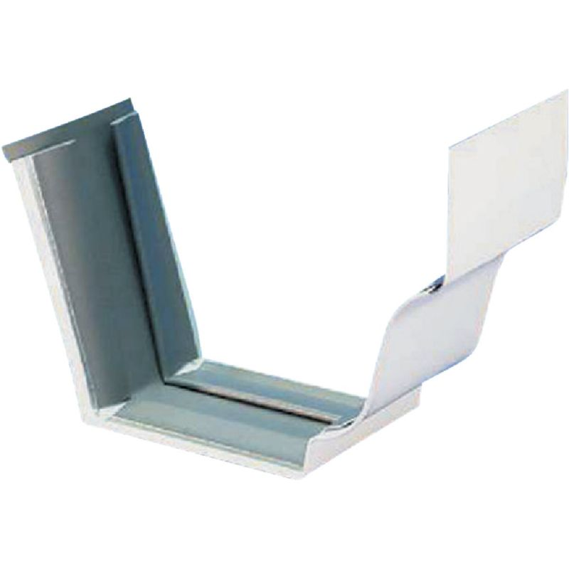 Spectra Metals Aluminum Slip-Joint Gutter Connection White