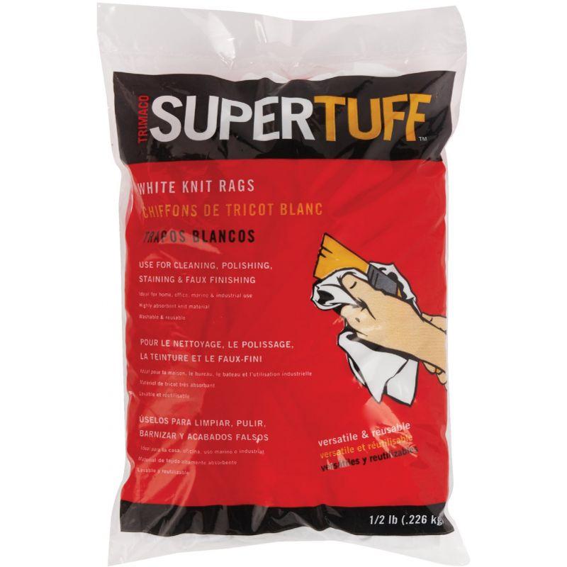 Trimaco SuperTuff White Knit Staining Rags 8 Oz., White